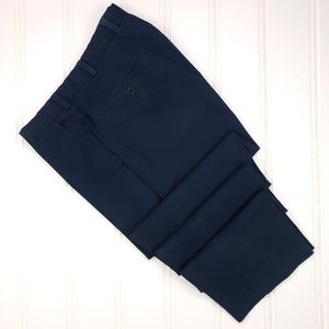 Brooks Brothers Clark Fit Chinos Navy 35x31 Blue